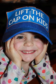 child wearing Cap on Kids hat